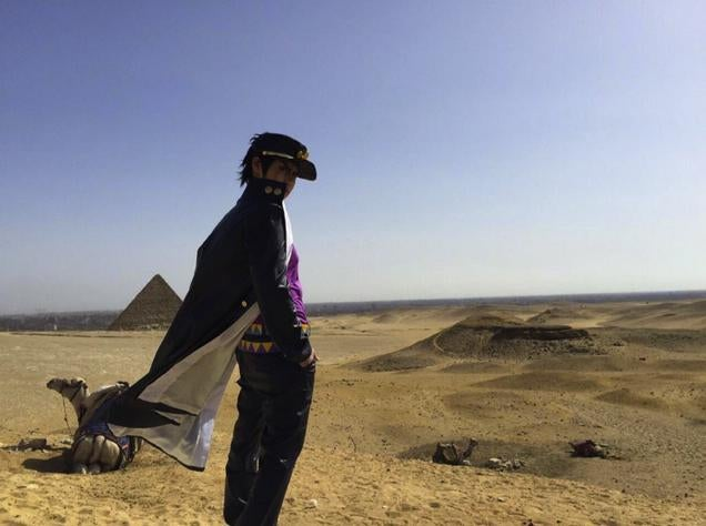 The Pyramids Make for a Great Cosplay Location