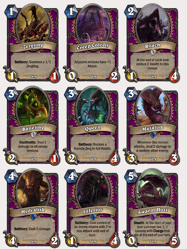 What Starcraft Cards Would Look Like In Hearthstone
