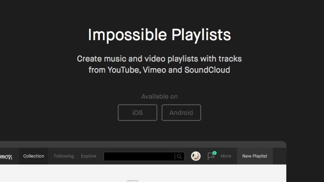 Playmoss Creates Playlists from YouTube, Vimeo and SoundCloud
