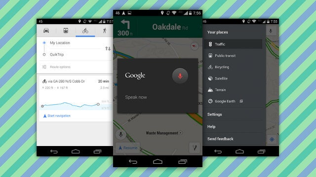 Google Maps Adds Biking Elevation, Voice in Navigation Mode, and More