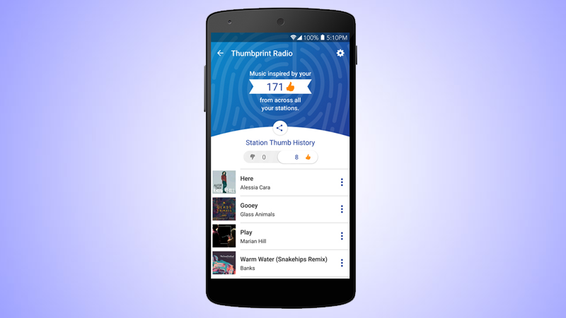 Pandora's Thumbprint Radio Turns All Your Liked Songs Into A Playlist