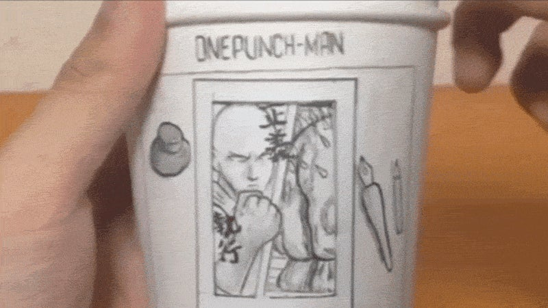 One-Punch Man Paper Cup Has A Story To Tell