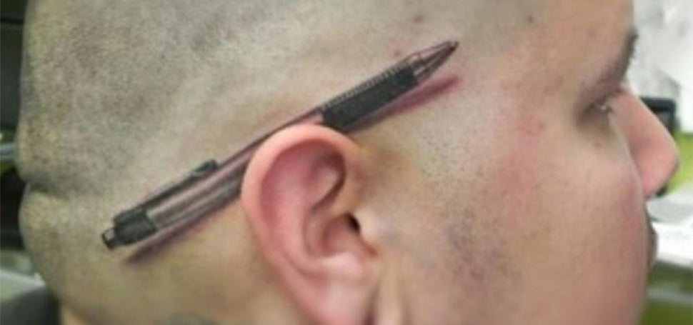 Oh wow, it took me a second to realise this pen is actually a tattoo