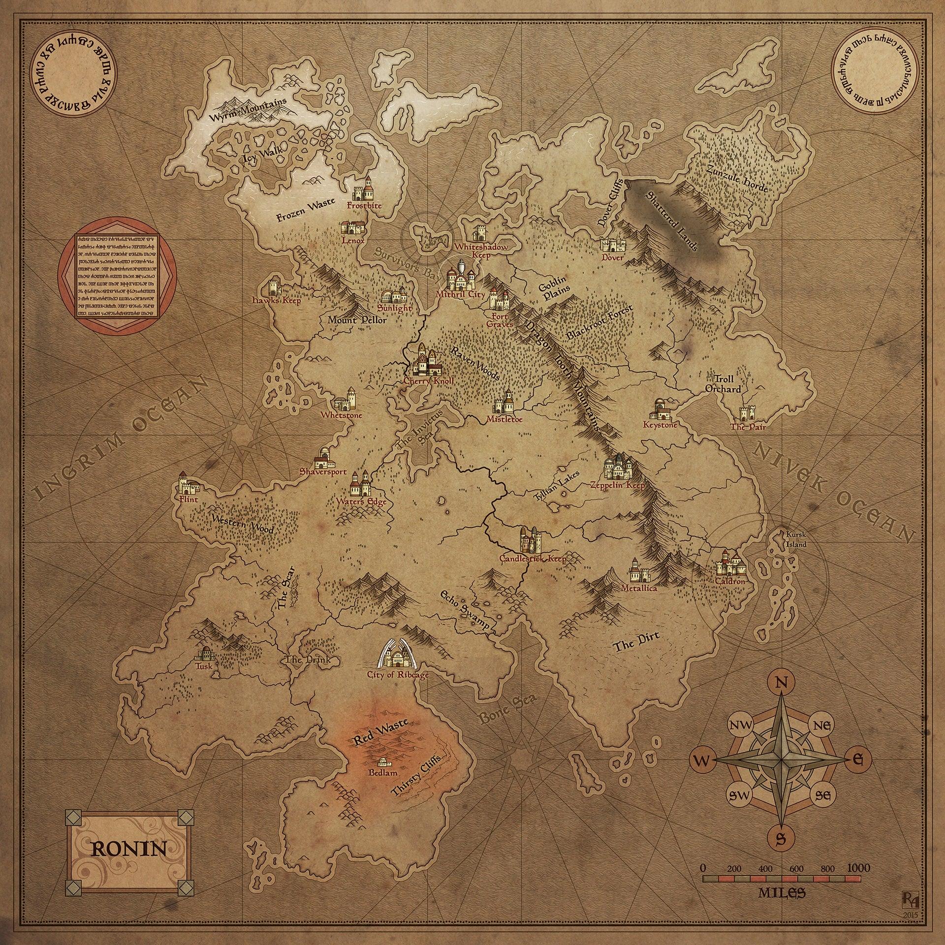 Fine Art: Beautiful Maps Of Fake Places