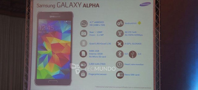 A New Samsung Galaxy Alpha Image Leaks Full Specs