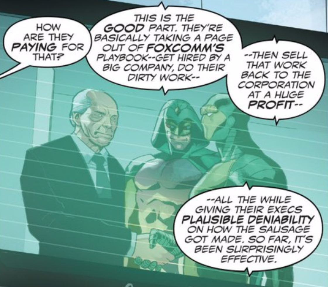 Captain America's Latest Comic Book Enemies: Corporate Snakesssssss