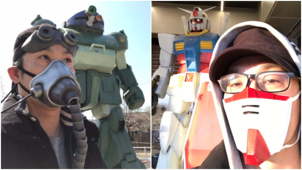 Man Makes Excellent Gundam Themed Masks