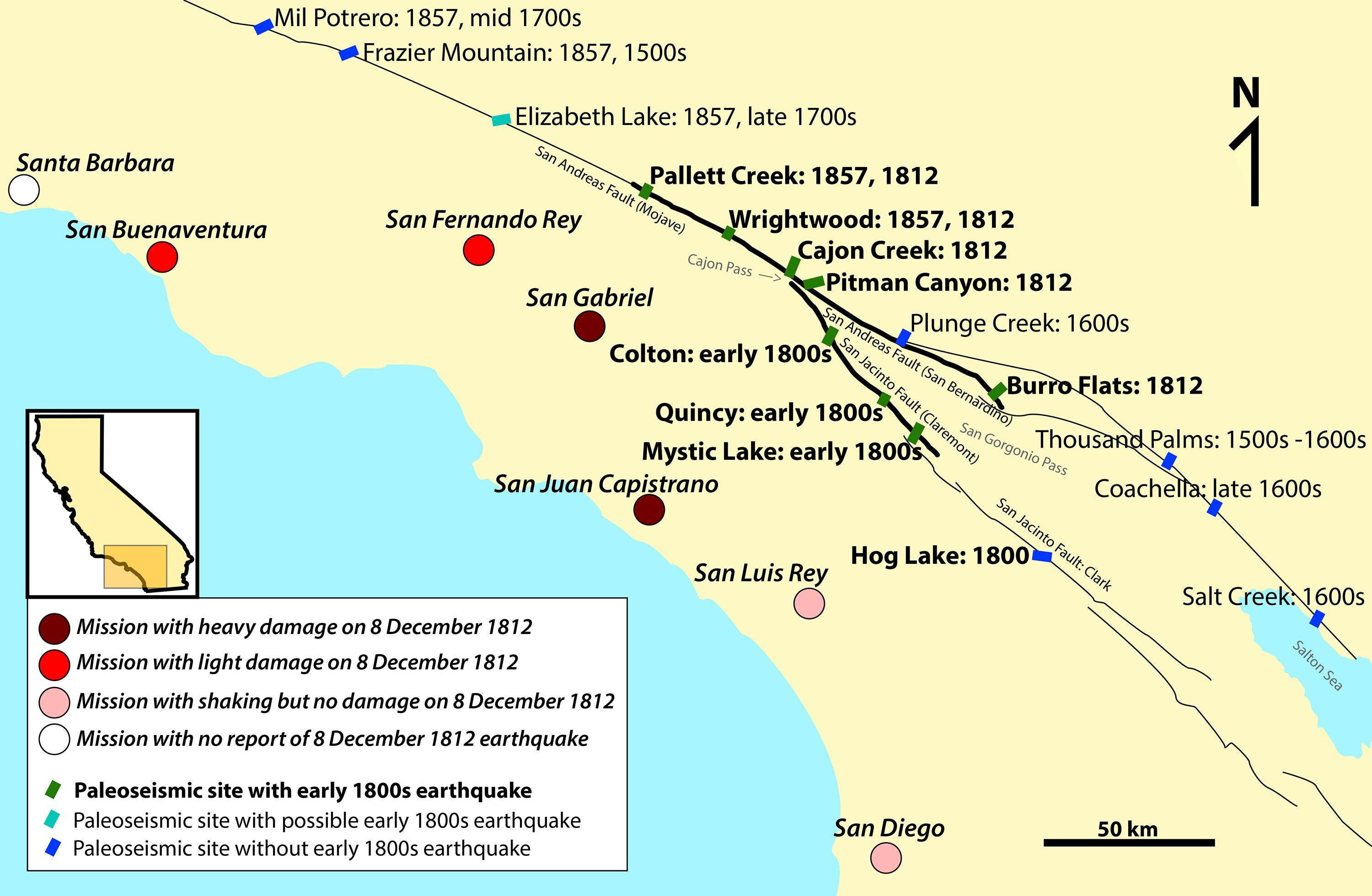 Missions In Southern California Map.Double Fault Earthquake Could Devastate Southern California