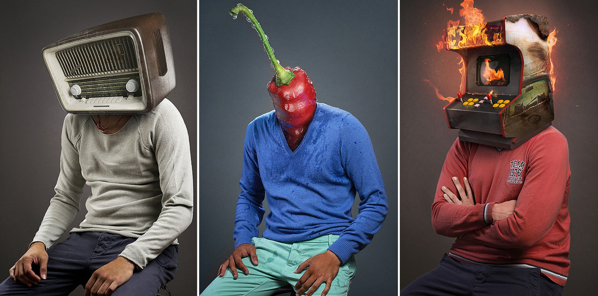 Can you guess the rock bands pictured in these surreal portraits?