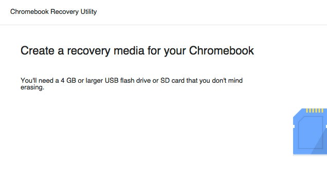 Chromebook Recovery Utility Makes Recovery Media For Your Chromebook