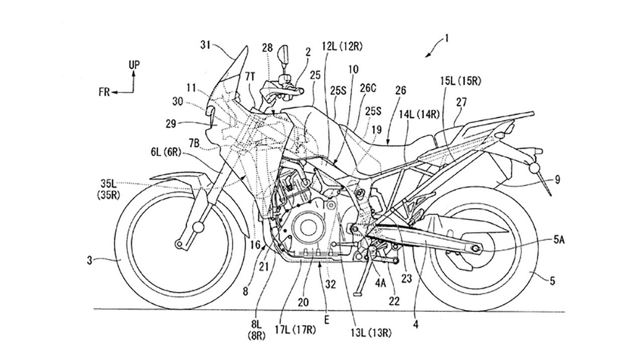 honda just patented its new adventure bike