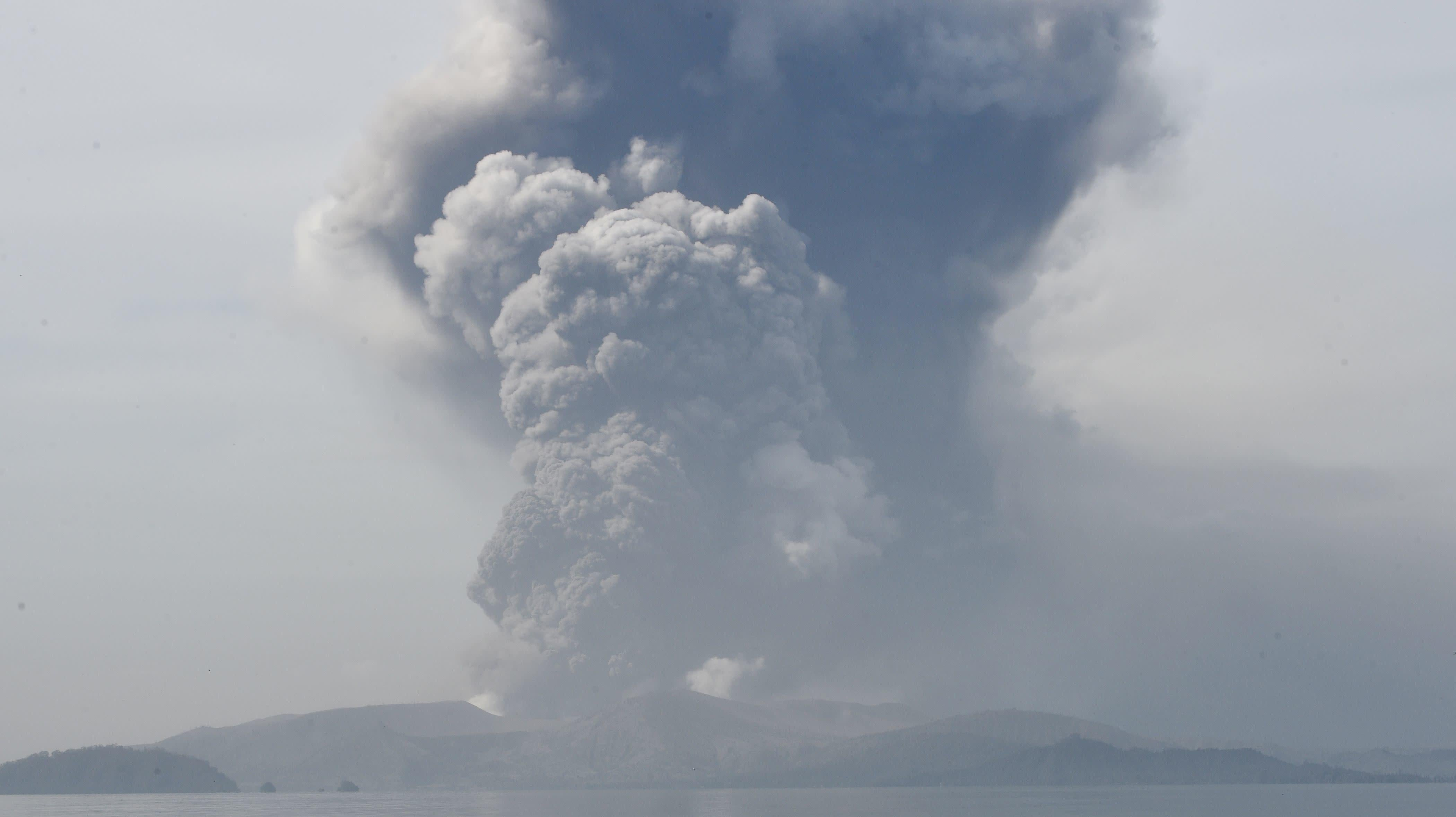 A Volcano Is Erupting In The Philippines, Forcing Tens Of Thousands To Flee