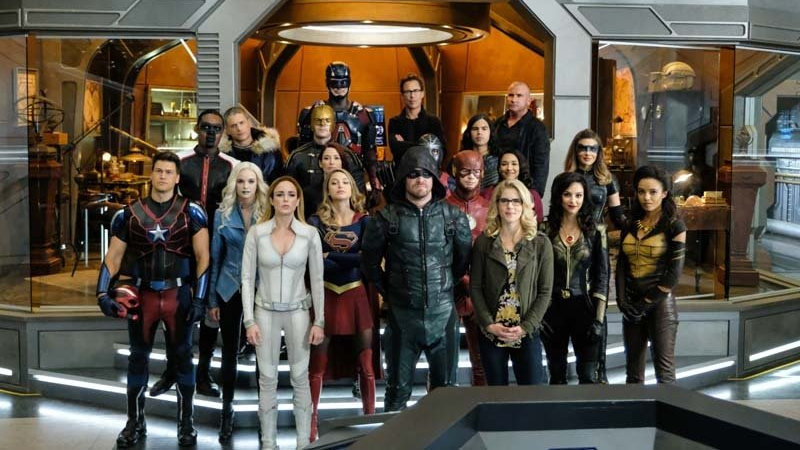 Alt-Earth Nazis Invade The Flash's Wedding In Our Giant First Look At The New DC/CW Crossover