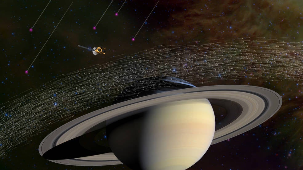 Some of Saturn's Dust Comes From Beyond Our Solar System