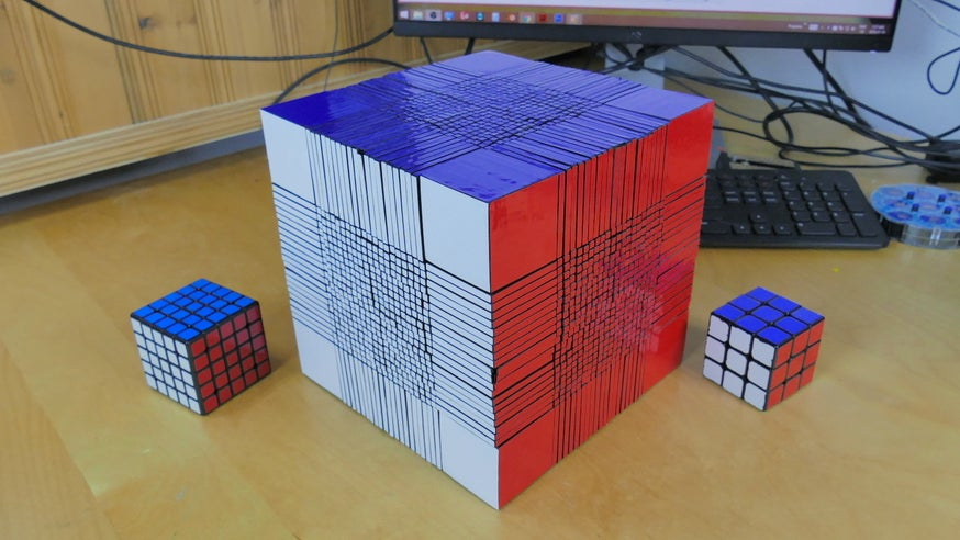 You Probably Won't Live Long Enough to Solve the World's Largest 22x22 Rubik's Cube