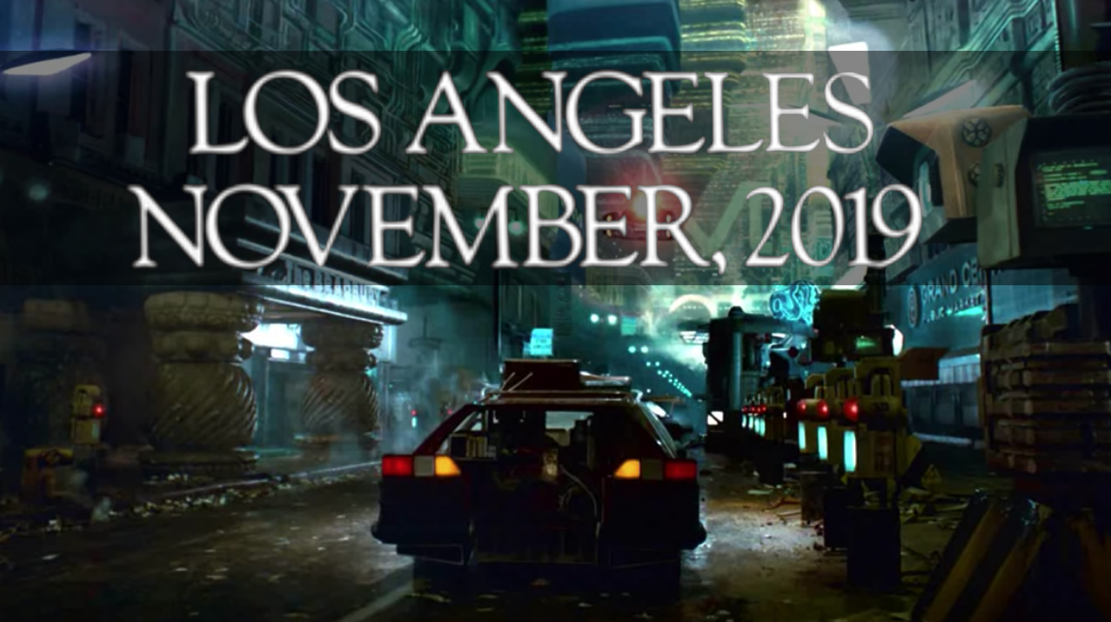 There's One Car From Blade Runner's November 2019 That Could Exist In Our November 2019