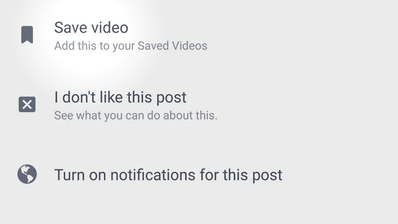 Facebook's Android App Now Lets You Save Videos For Offline Viewing