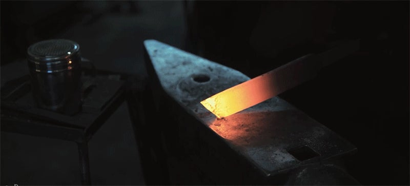 The Werner Herzog of Blacksmiths Makes a Knife From a Wagon Wheel