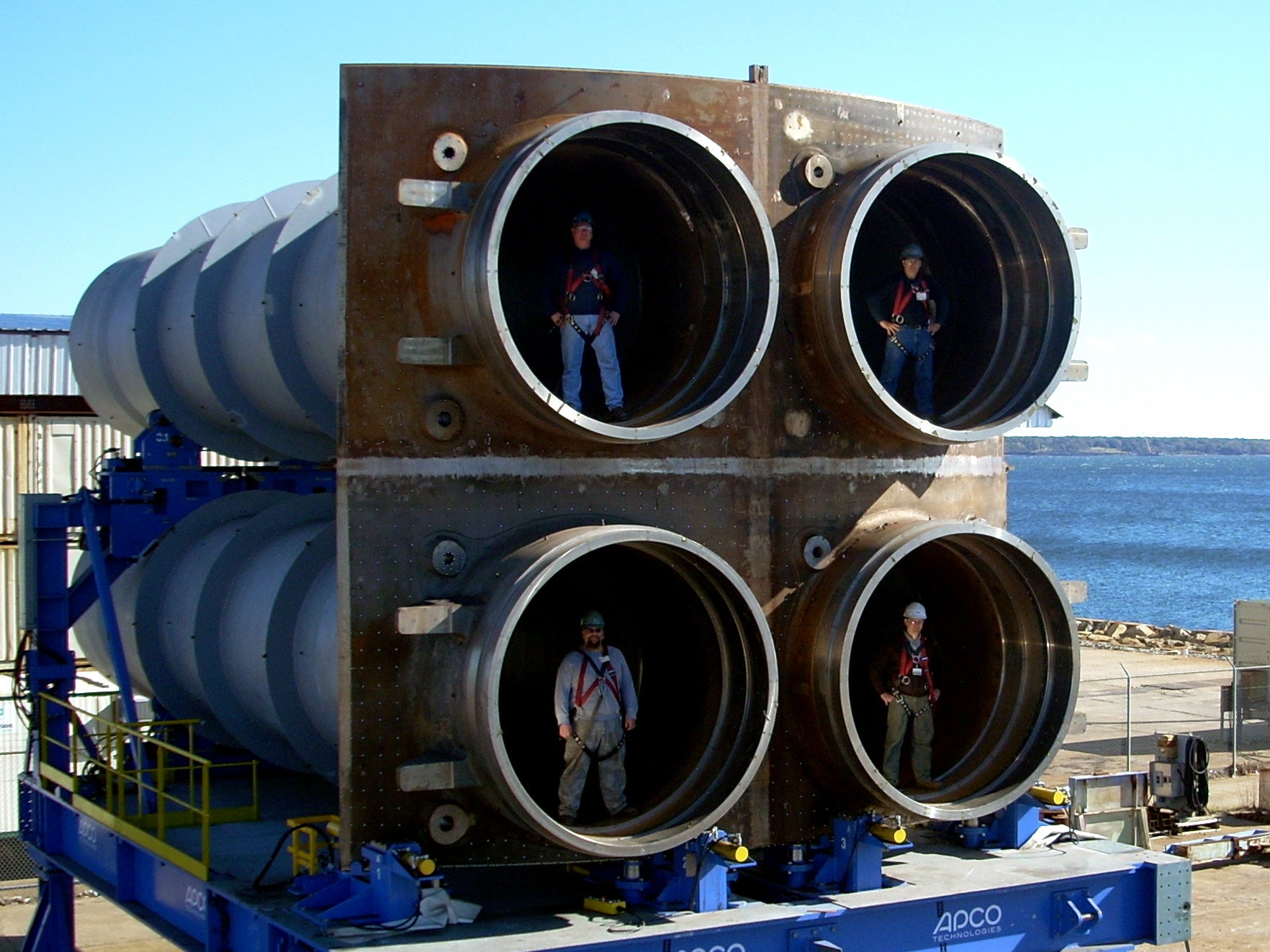 The giant tubes that launch missiles in strategic nuclear submarines