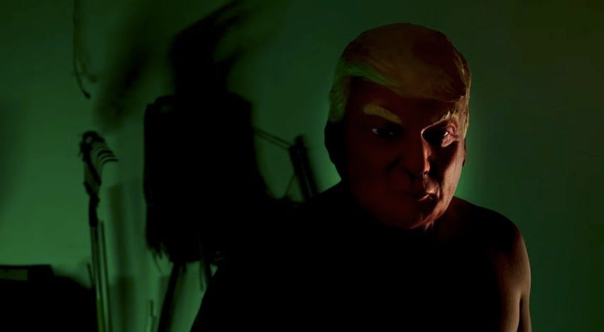 A Trump Mask Is Just One Of Many Disturbing Images In The American Horror Story: Cult Opening Credits
