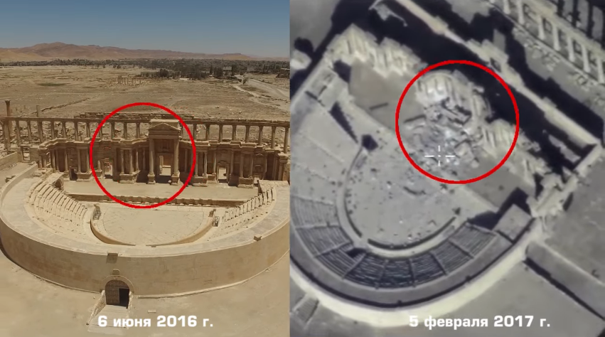 Drone Footage Shows Destruction At The Syrian World Heritage Site Of Palmyra