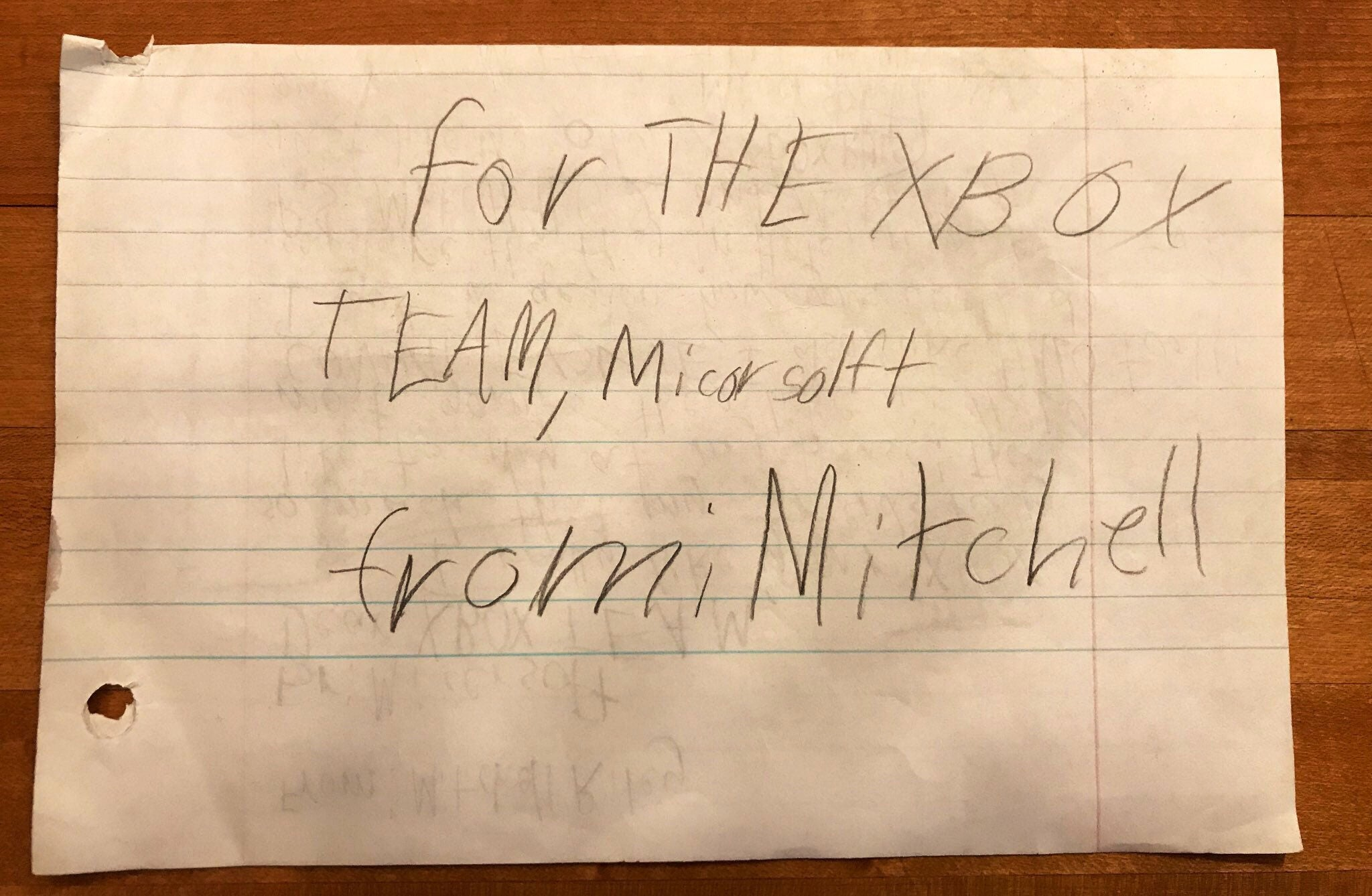 Little Kid's Hand-Written Xbox Fan Mail From 2002 Is Very Wholesome