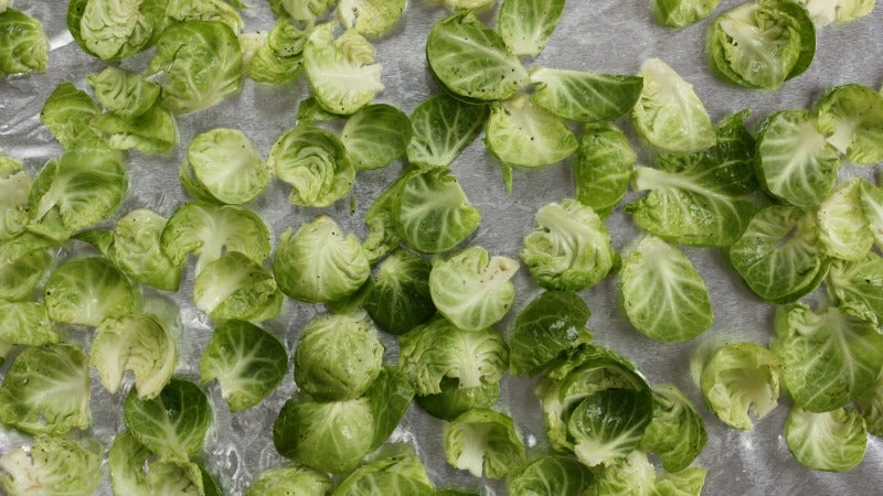 Brussels Sprout Chips Are a Super Easy, Healthy Snack