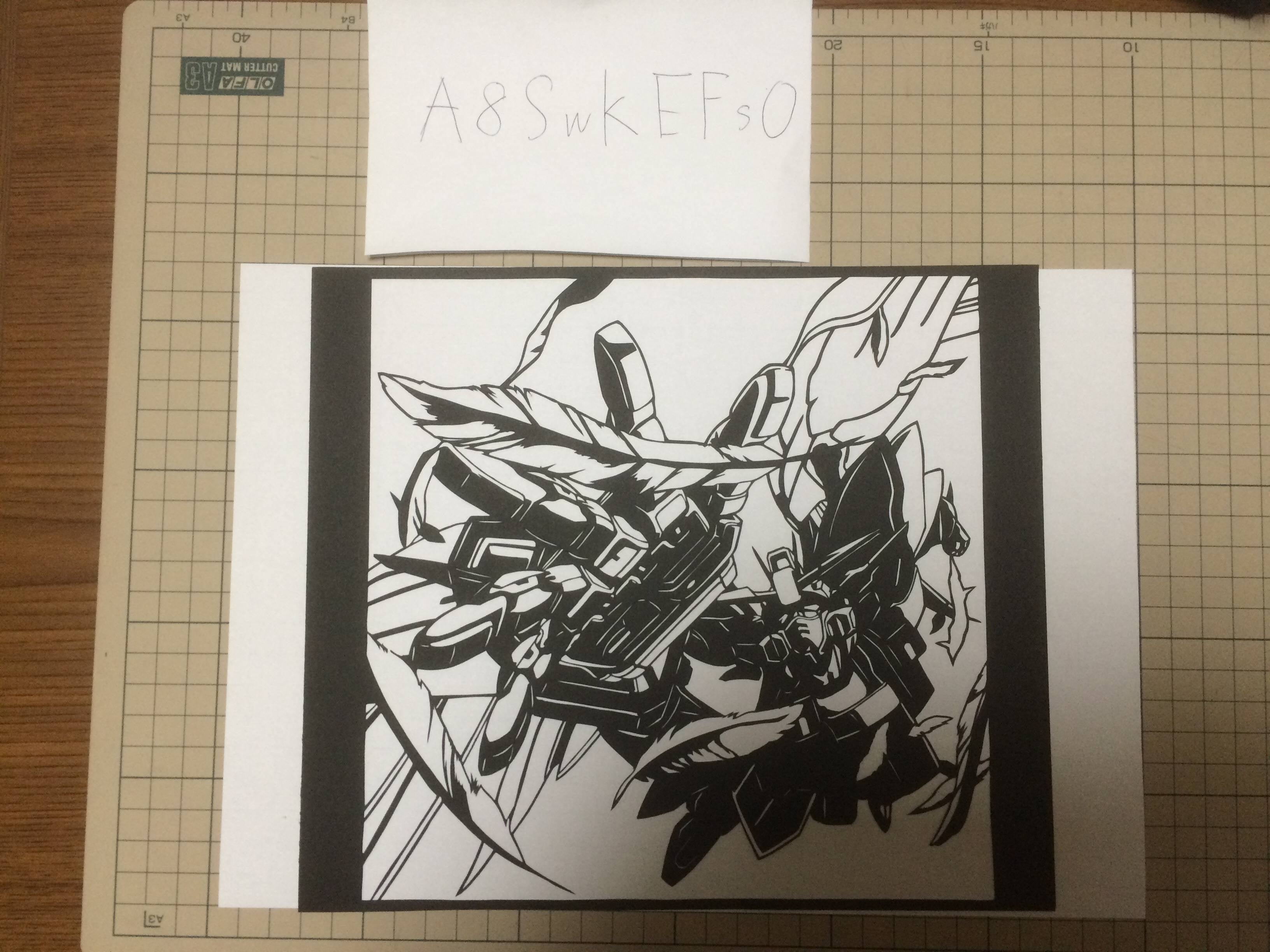 Anime Characters Sliced Right Out of Paper