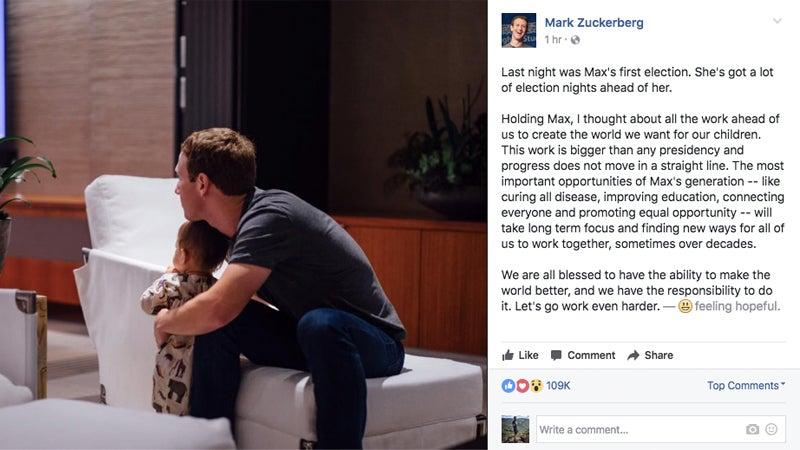 'Let's Go Work Even Harder':Mark Zuckerberg Responds To US Election