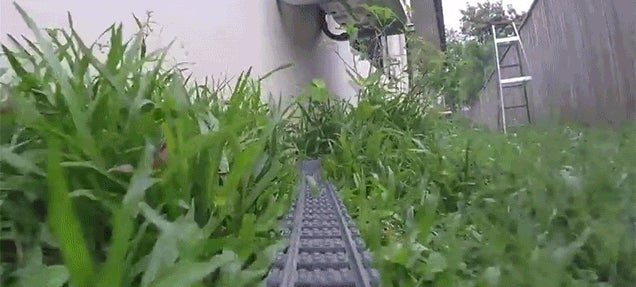 Seeing the First Person View of a Lego Toy Train Riding Around on a Track Is Surprisingly Fun
