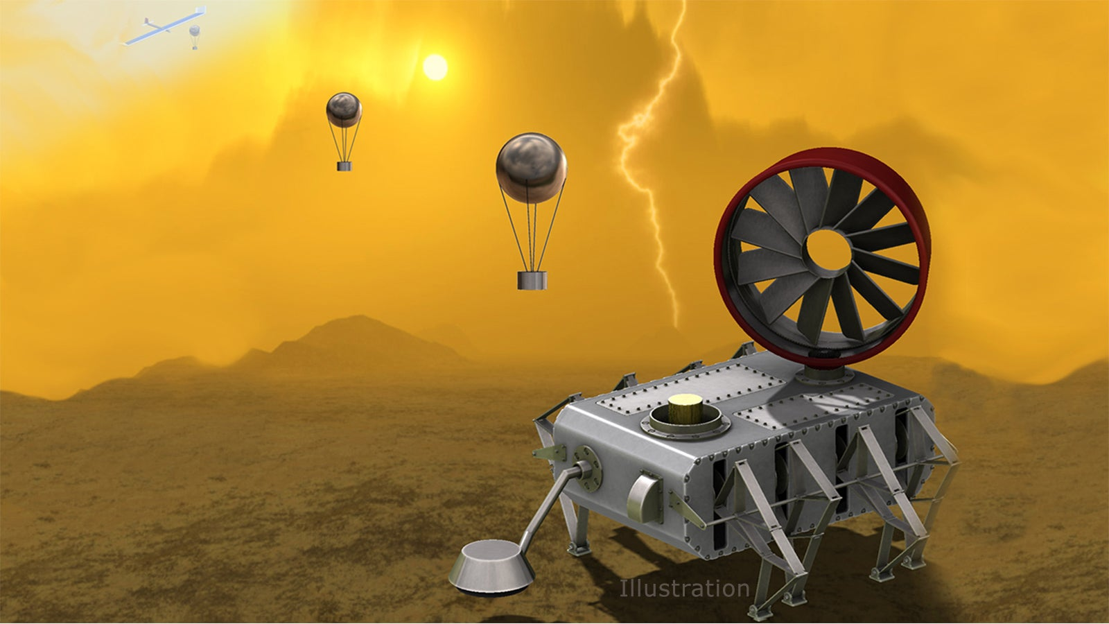 NASA's Latest Venus Probe Concept Looks Like A Tim Burton Creation