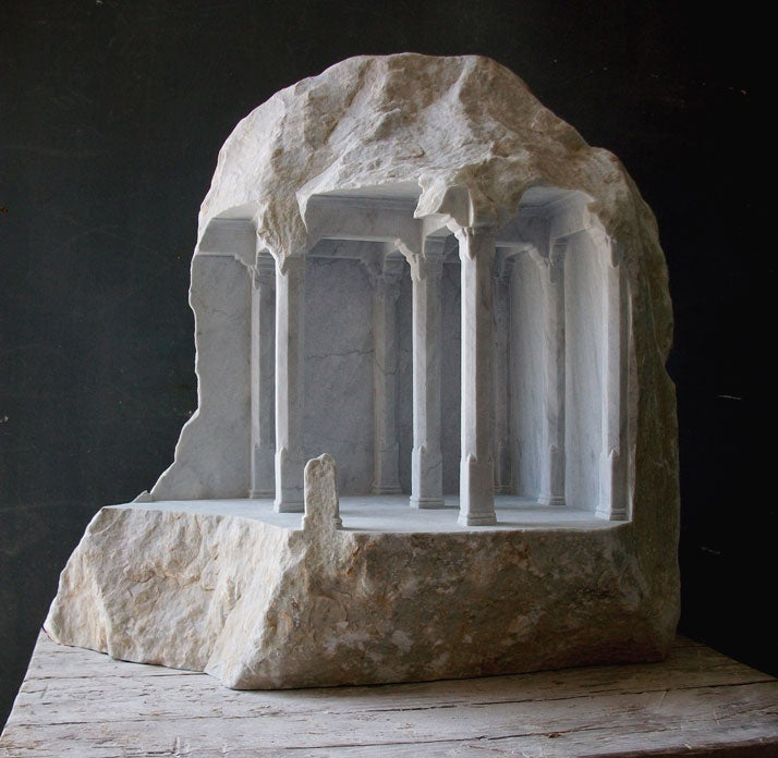 Amazing sculptures reveal hidden temples and castles inside of rocks