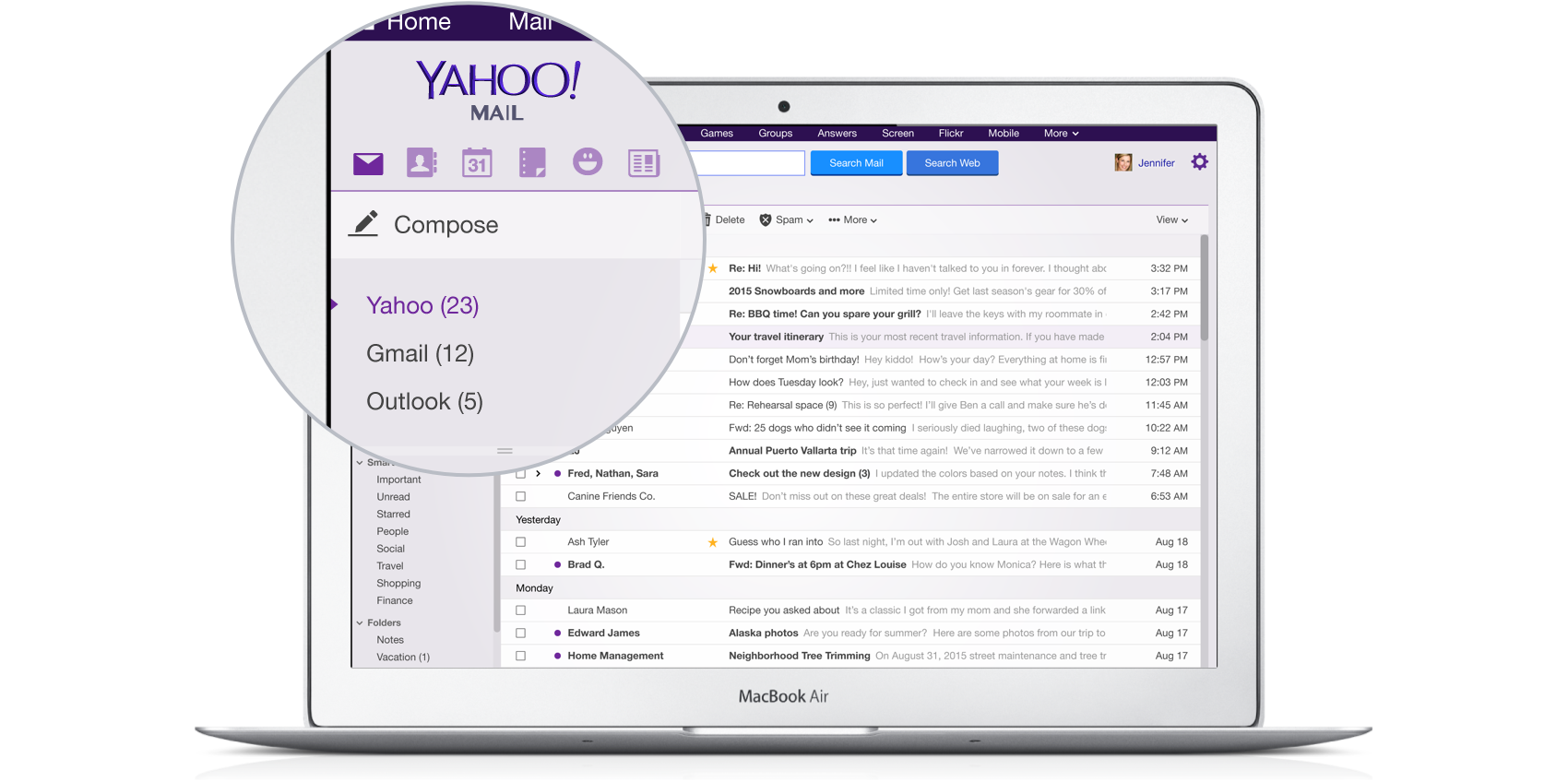 Yahoo Mail Now Manages Your Entire Gmail Account Too