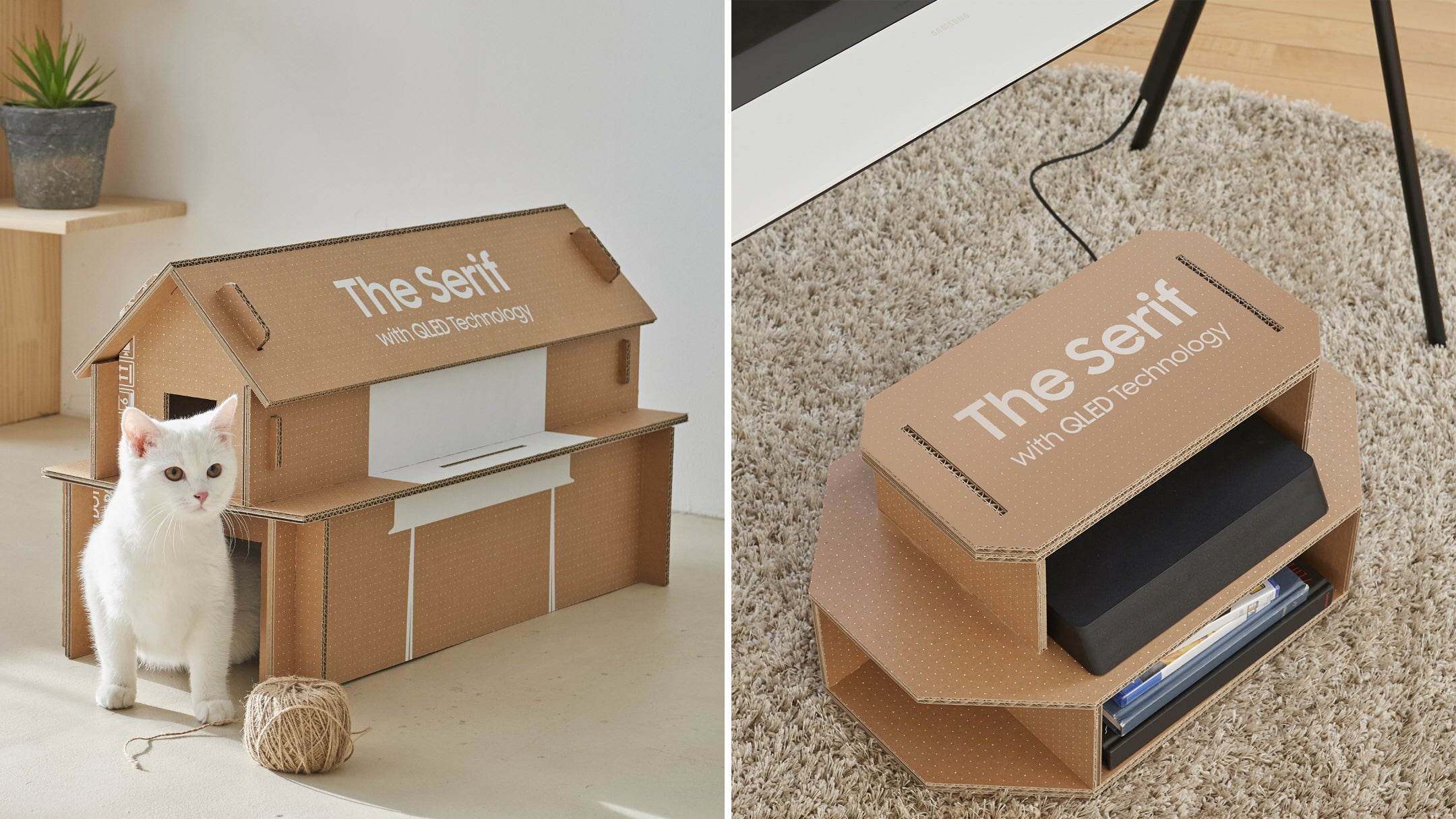 Samsung Redesigned Its TV Boxes To Be Easily Converted Into Cat Houses And Entertainment Centres