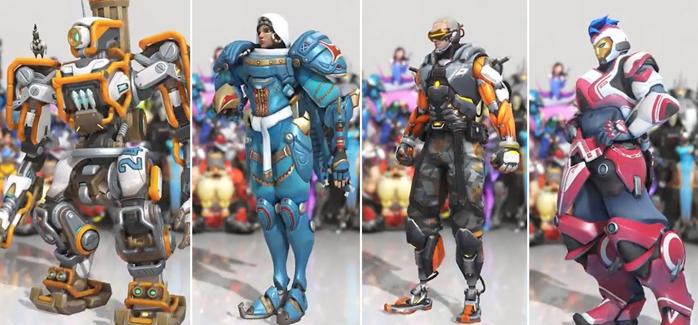 first look at four new overwatch skins kotaku australia