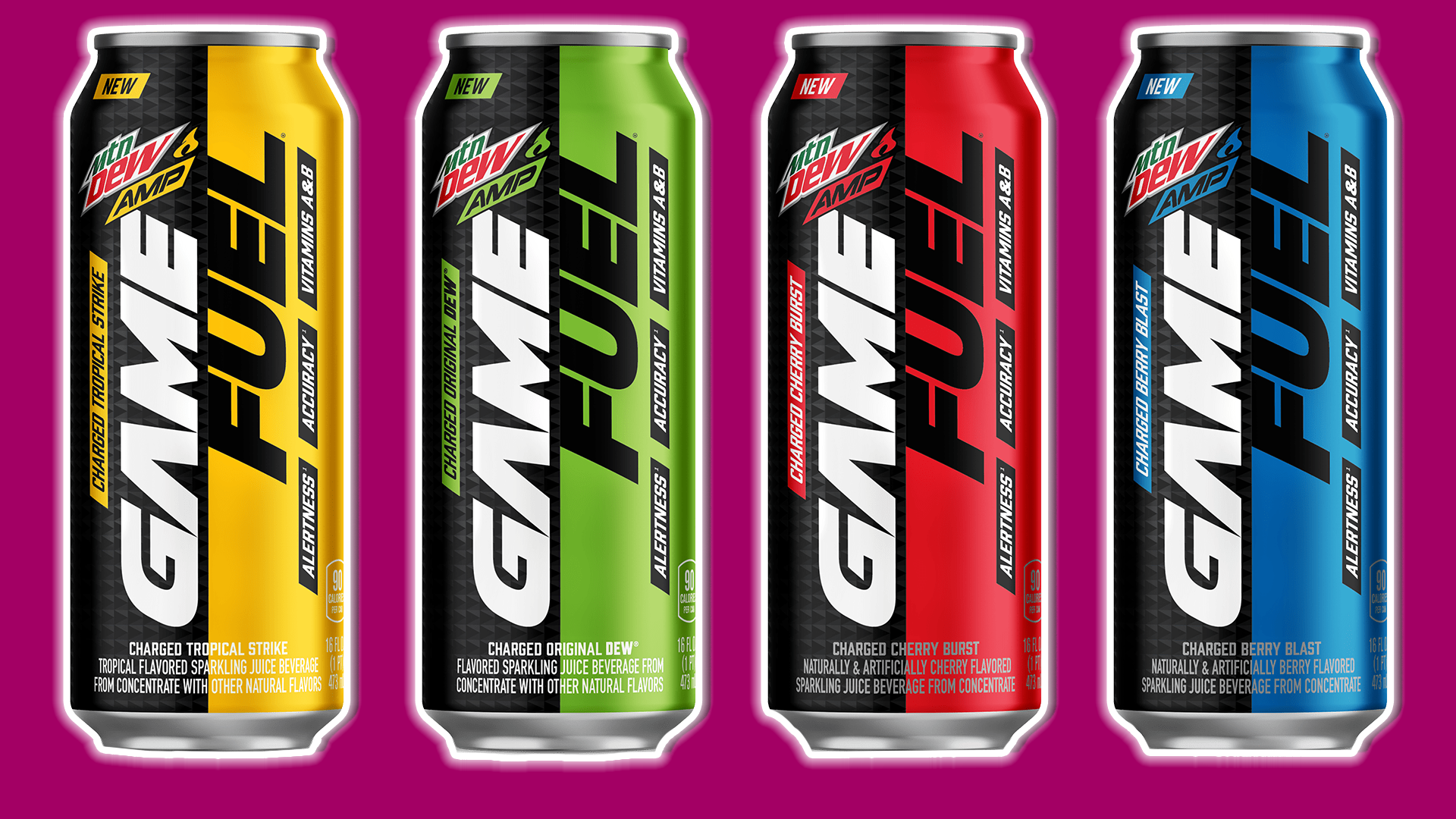Every Flavour Of Mountain Dew Game Fuel Reviewed And Then Mixed Together