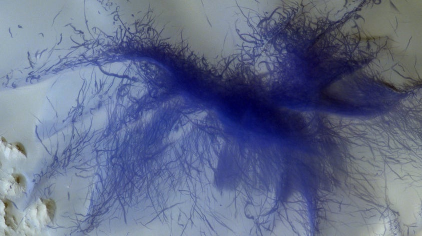 A 'Hairy Blue Spider' On Mars Is One Of The Cool New Scenes Captured By European Orbiter