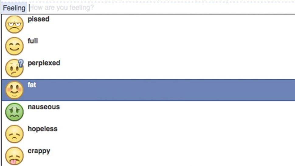 Facebook Bans Feeling Fat