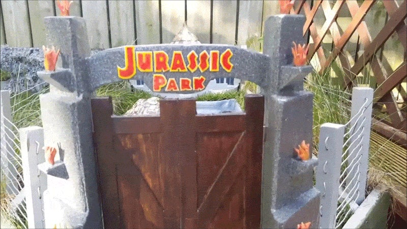 Guy Builds Tiny Jurassic Park For His Tortoise