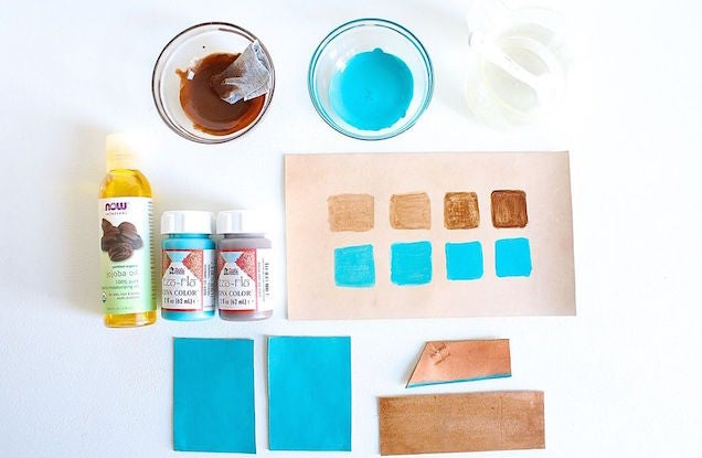 A Simple Way to Dye Leather for DIY Projects