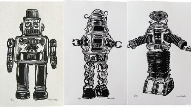 Vanquish Blank Walls With These Awesomely Detailed Linocuts