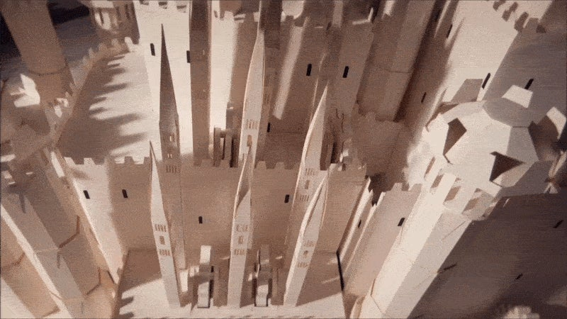 The Game of Thrones Opening Credits Recreated with Paper