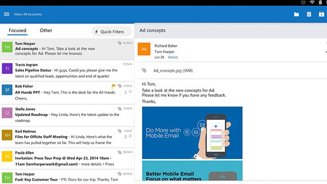 Outlook Comes to Android and iOS, Office for Android Leaves Preview