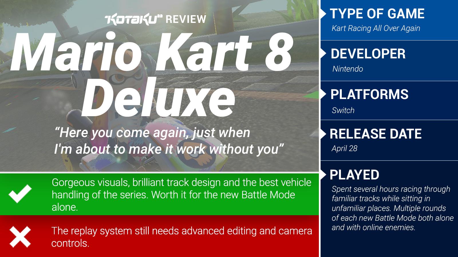 Mario Kart 8 Deluxe The Kotaku Review Kotaku Australia