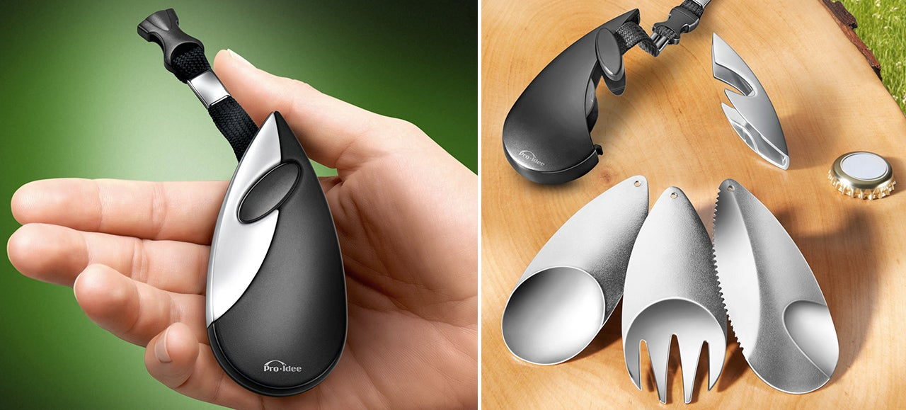 A Full Set of Keychain Cutlery Makes Picnics More Civilized