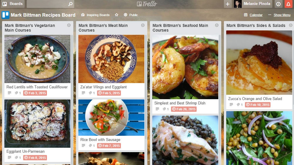 Turn Trello into a Recipe and Meal Planning App