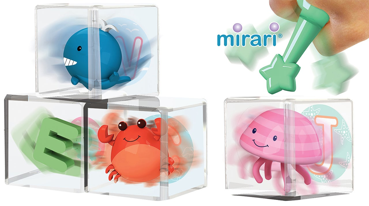 See-Through Alphabet Blocks With Adorable 3D Characters Trapped Inside