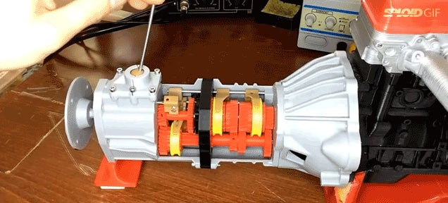 This 3D printed car transmission works like a charm