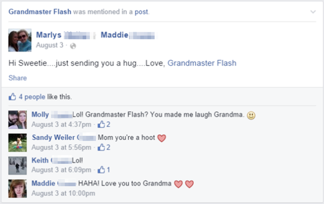 Grandmas on Facebook Are Tagging Themselves Grandmaster Flash
