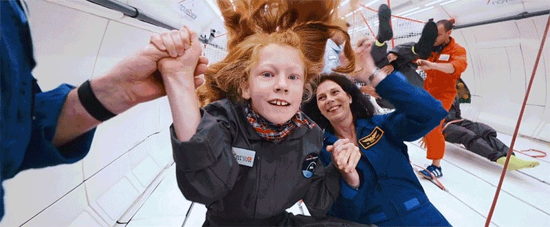 There'll Be Something In Your Eye As You Watch These Kids Experience Zero-Gravity